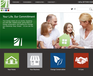 Erie Thames Powerlines' New Website Homepage