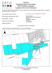 Planned Outage - Town of Belmont