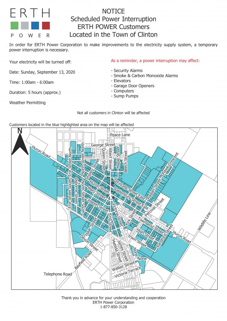 Planned Outage - Town of Clinton